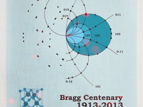 Bragg William lawrence centenary 2013-1913 law x-ray difracction zinc blende poster 3dciencia